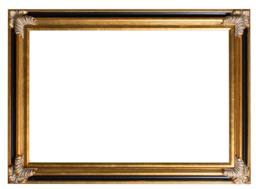 Valencia - Klassieke Barok Lijst - Goud met Zwart Gekleurd