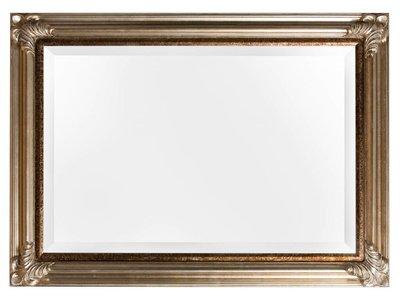 Valencia spiegel met zilveren lijst