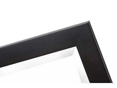 New York - Strakke Moderne Designspiegel - Zwart Gekleurd Frame
