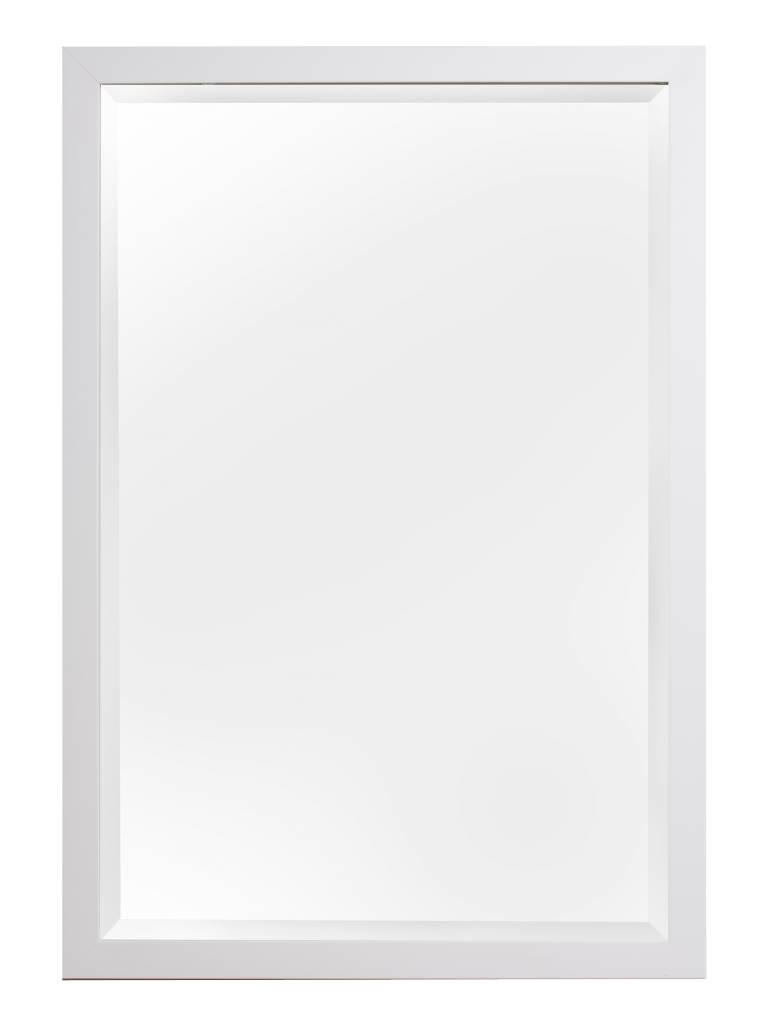 New York - Strakke Moderne Designspiegel - Wit Gekleurd Frame