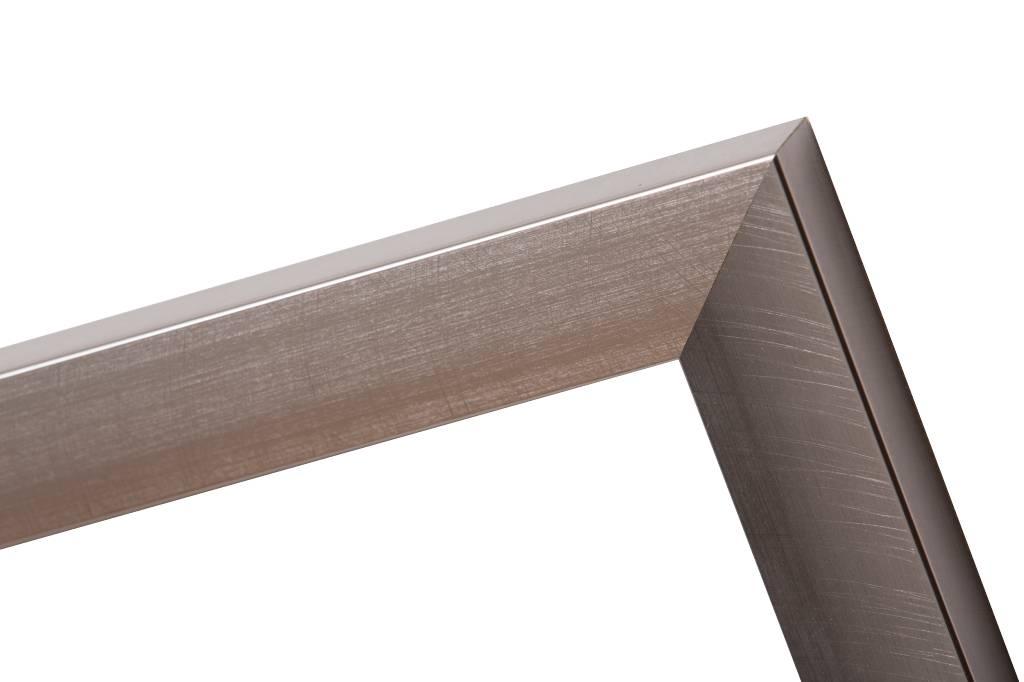 Corte - schuine design lijst in RVS kleur