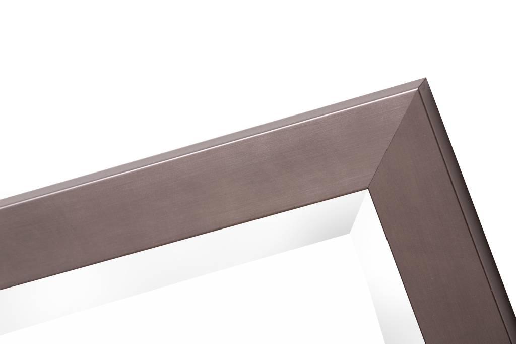 Barletta - Moderne Strakke Spiegel - Kleur Roestvrij Staal (RVS)