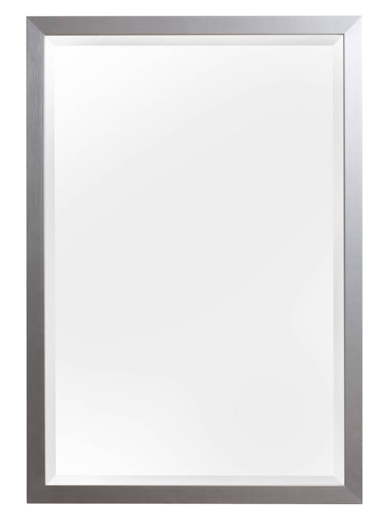 barletta spiegel met moderne zilver lijst. Black Bedroom Furniture Sets. Home Design Ideas