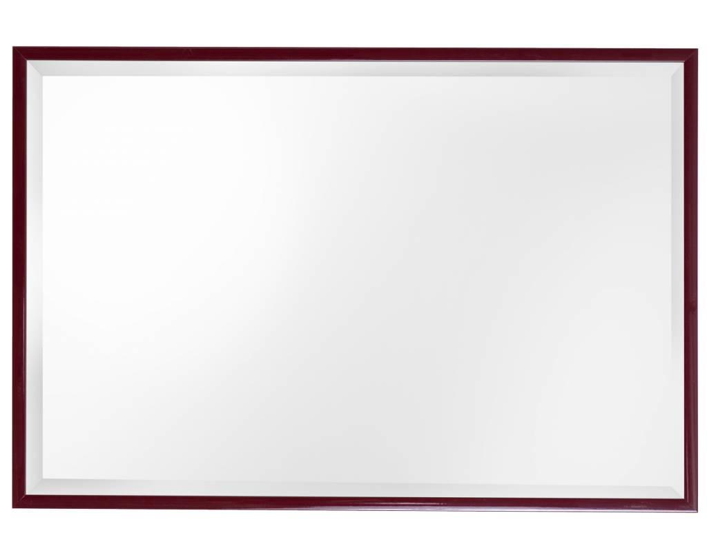 Perugia - spiegel met diepe lijst in het rood