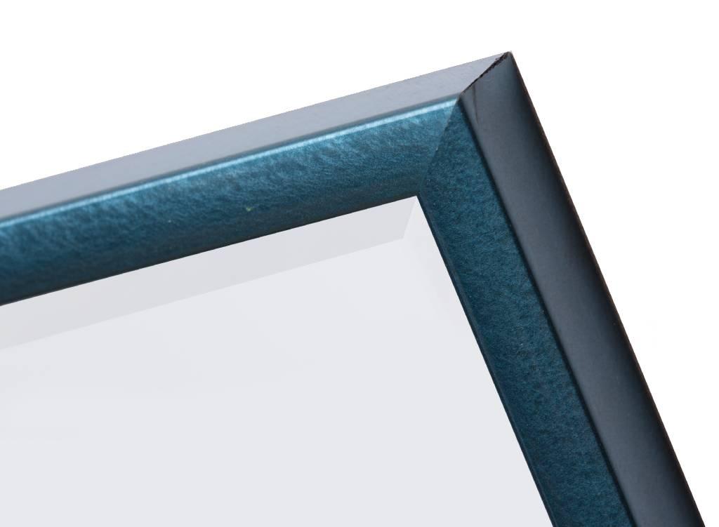 Perugia moderne spiegel met metallic blauw lijst - Moderne spiegels ...