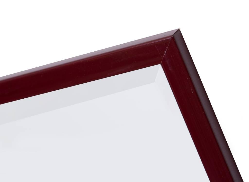Levie - spiegel - donkerrood