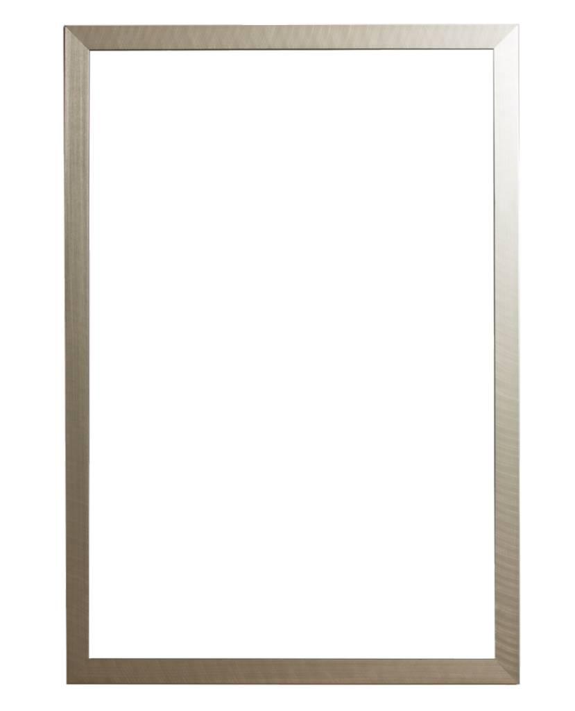 Mariotto - geborstelde zilveren lijst met zwarte zijkant