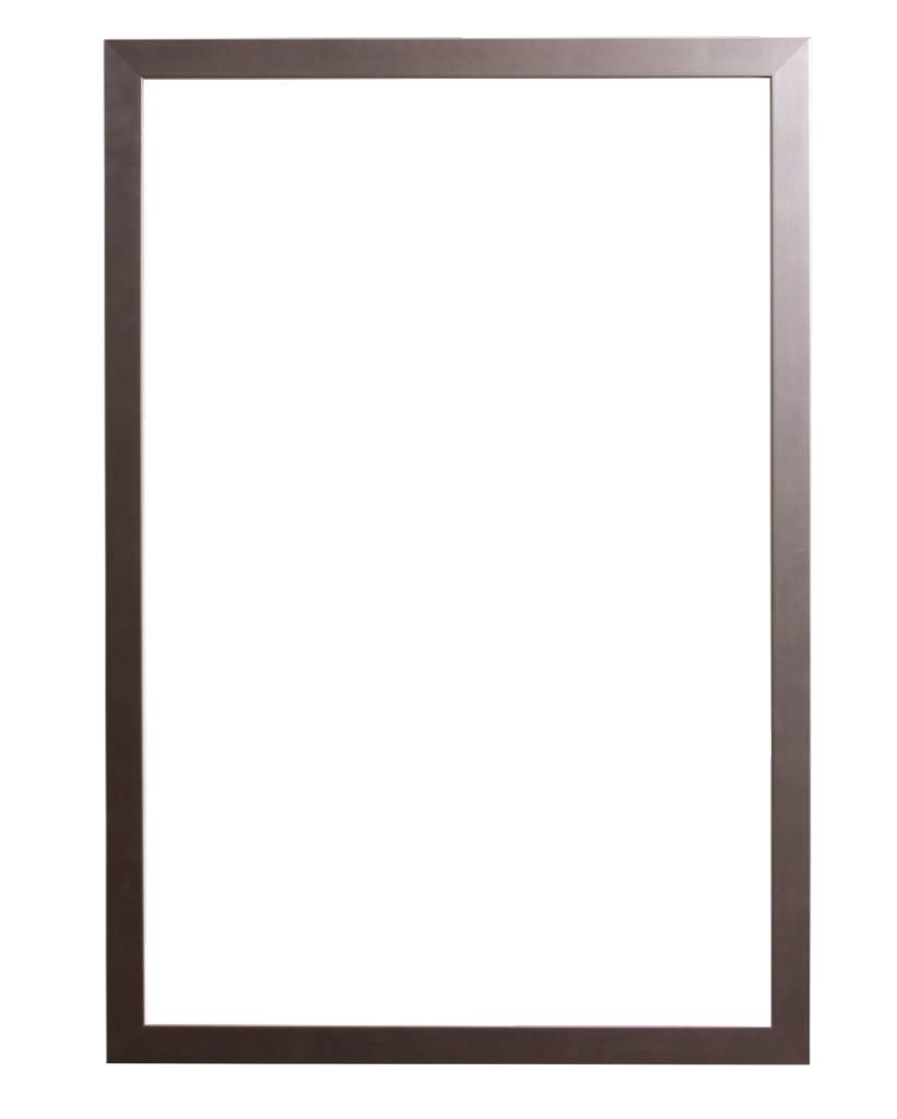 Barletta smalle moderne lijst in RVS kleur