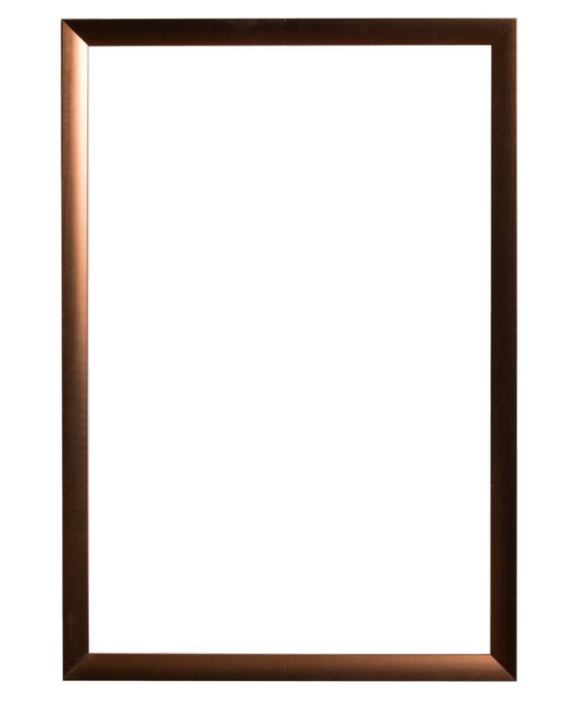 Corte - schuine design lijst in brons kleur