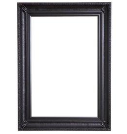 Bari - zwarte lijst van hout met ornament