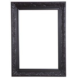 Turin - zwarte barok lijst van hout
