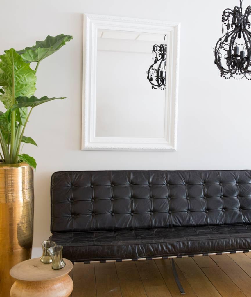 montepellier spiegel met witte lijst kunstspiegel. Black Bedroom Furniture Sets. Home Design Ideas