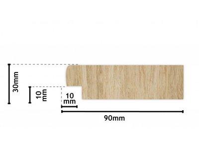 Wood spiegel met steigerhouten lijst