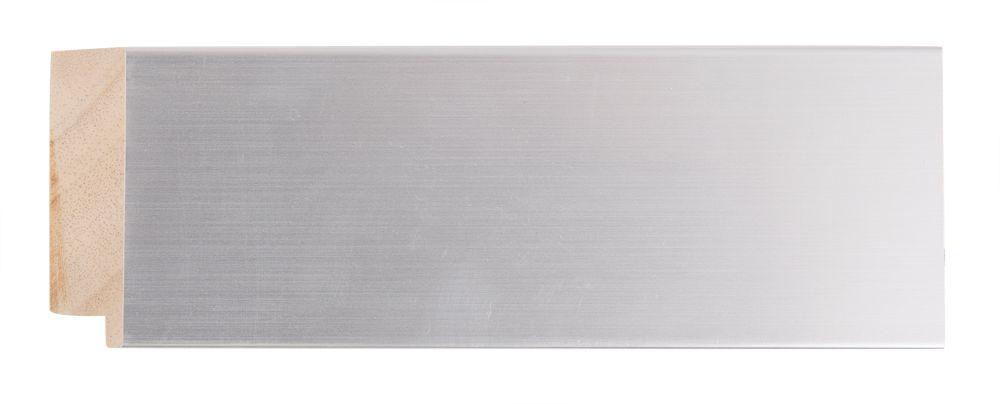 Bettola spiegel met brede moderne lijst in het zilver