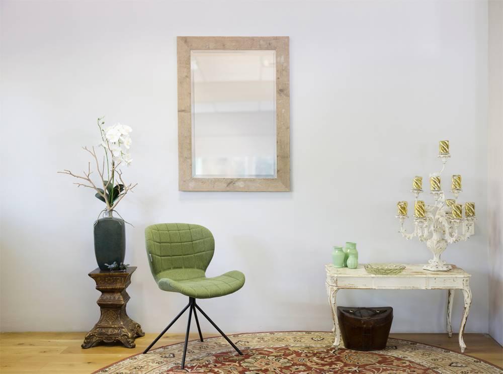Wood - Ongeschuurde Steigerhouten Spiegel