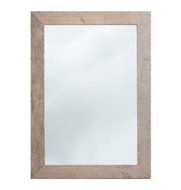 Wood spiegel met steigerhouten lijst (ongeschuurd)