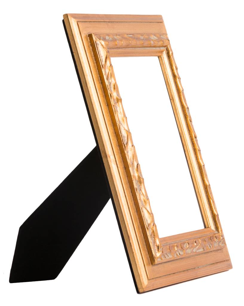Betaalbare gouden fotolijst van hout