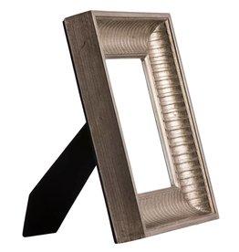 Prizzi - zilveren fotolijst van hout