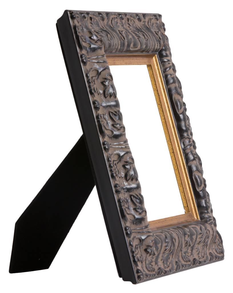 Milazzo - zwarte fotolijst met gouden rand