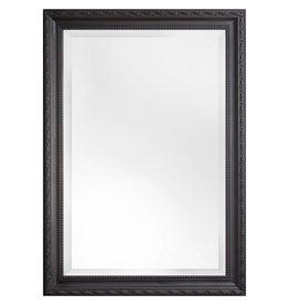Pizzo Italiaanse spiegel met zwarte lijst
