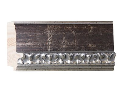 Bosa - zilver bruine lijst van hout