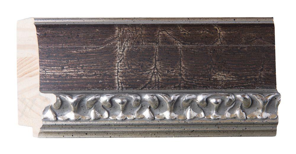 Bosa - spiegel - bruin/zilver