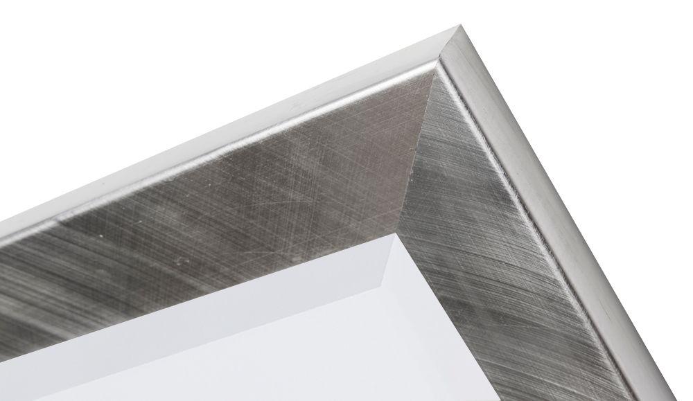 Amsterdam spiegel met moderne zilveren lijst