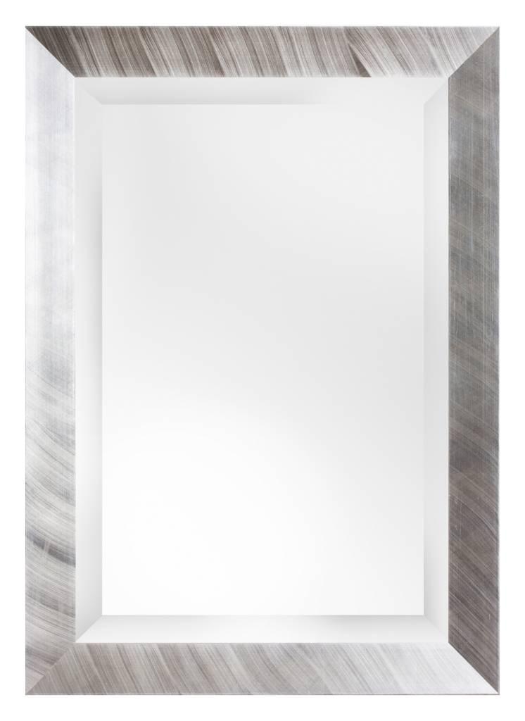 Amsterdam spiegel met moderne zilveren lijst kunstspiegel for Grote zilveren spiegel
