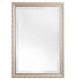 Bonalino - Klassieke Spiegel met Bladpatroon - Zilver Gekleurd Frame