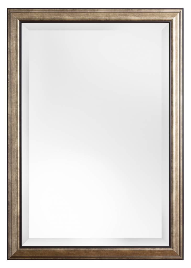 Rieti spiegel met donker zilveren lijst for Grote zilveren spiegel