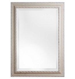 Nyons - Spiegel met Barok Ornamentlijst - Zilver Gekleurd Frame