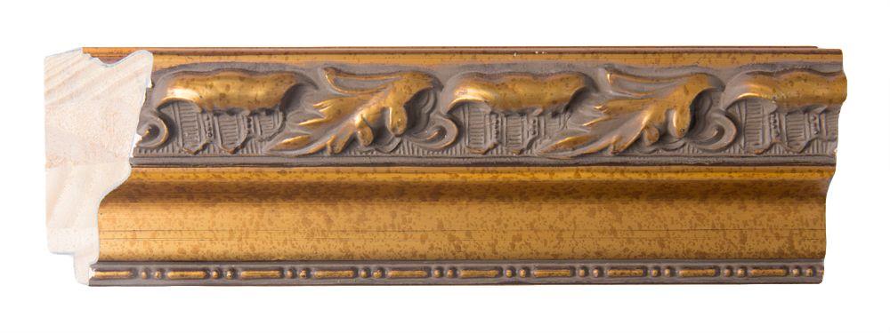 Bonalino - Barok Spiegel met Bladpatroon - Goud Gekleurd Frame