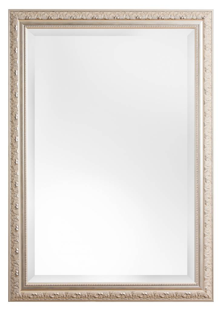 Palmi facet spiegel met barok zilveren lijst