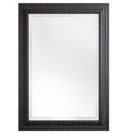 Nyons - spiegel met zwarte barok lijst met ornament