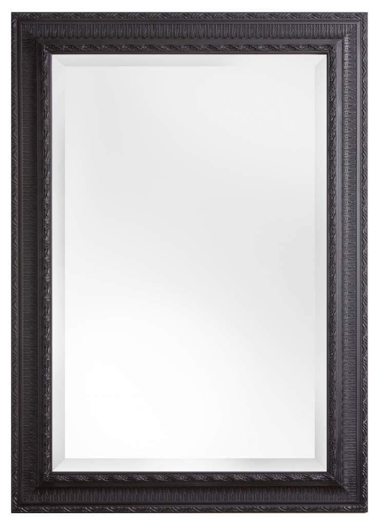Nyons spiegel met zwarte barok lijst met ornament - Barok spiegel voor badkamers ...