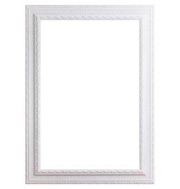 Nyons - barok witte lijst van hout