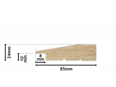 Koop de nantes zwarte houten lijst
