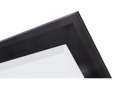 Nantes - Brede Moderne Spiegel - Mat Zwart Gekleurd Frame