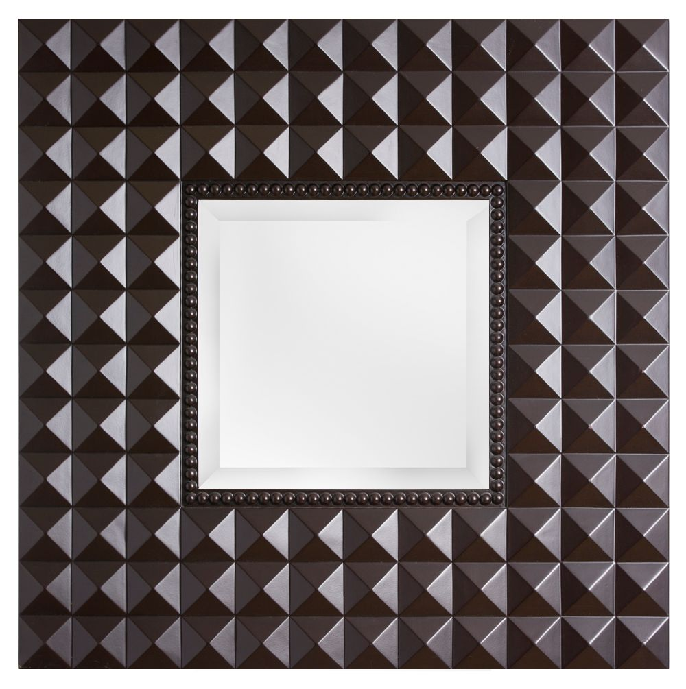 Toulouse - vierkante spiegel - donkerbruin
