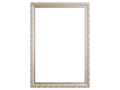 Bonalino - Barok Lijst met Bladpatroon - Zilver Gekleurd