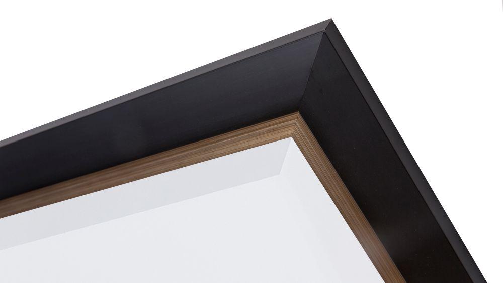 Firenze moderne zwarte spiegel met champagne zilveren for Spiegel met zwarte lijst