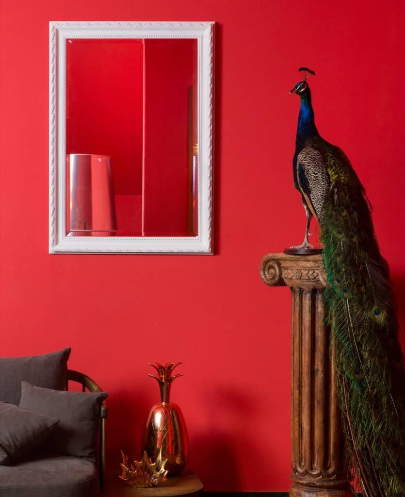 Pizzo - Bescheiden Italiaanse Barok Spiegel - Wit Gekleurd Frame