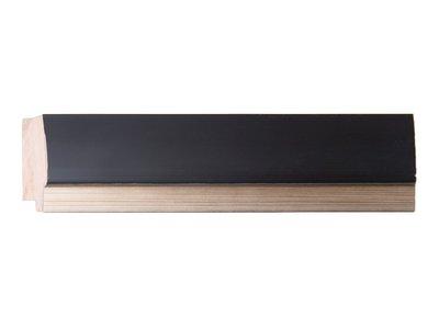 Firenze moderne zwarte spiegel met zilveren binnenrand