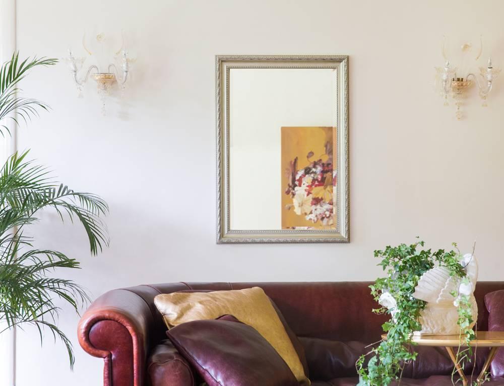 Pizzo Italiaanse spiegel met zilveren lijst
