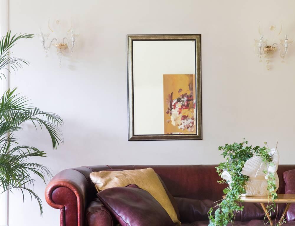 Rieti spiegel met zilveren lijst