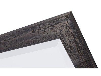 Bastia - spiegel - zwart/hout