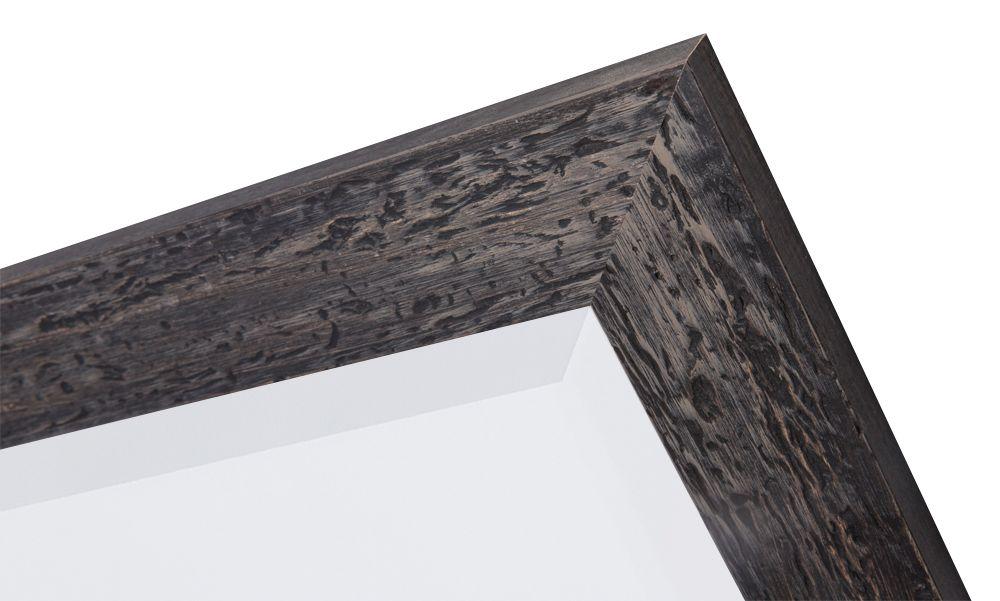 Bastia spiegel met houten zwarte lijst kunstspiegel for Spiegel zwarte lijst