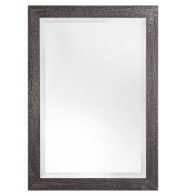 Wood spiegel met diepe steigerhouten lijst ongeschuurd for Spiegel met zwarte lijst