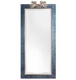 Engelen - spiegel met blauw zilveren lijst met engelen