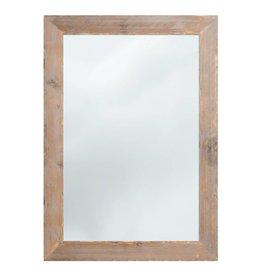 Wood - spiegel met steigerhouten lijst (geschuurd)